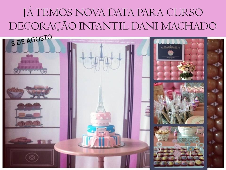 Curso de decoração de festa infantil  Dani Machado Eventos